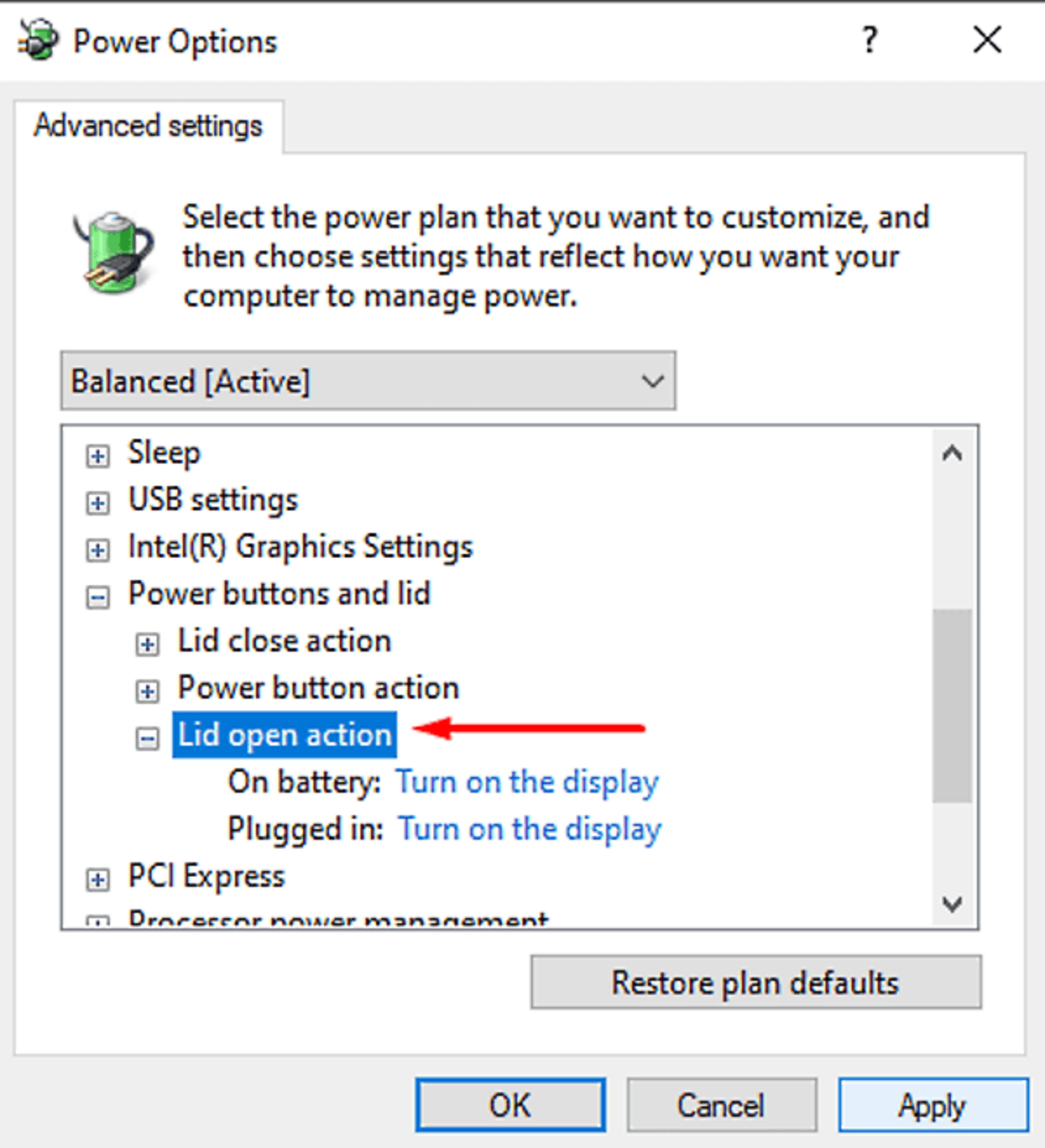 How To Change Laptop Lid Open Action In Windows 10