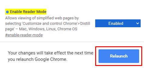 Enable or Disable Reader Mode in Chrome through flag