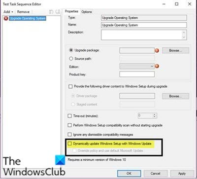 Windows 10 Feature Update not installing on devices pointing to an Intranet location