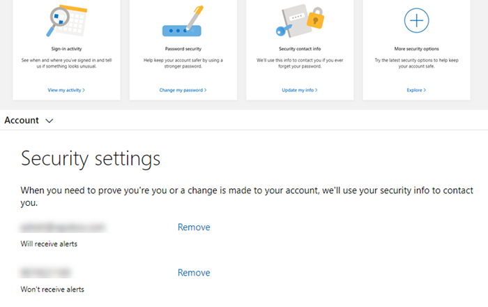 Why is my Microsoft account security info change still pending?