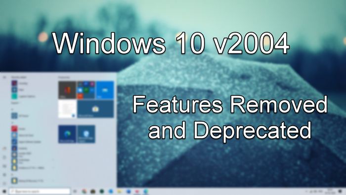 Windows 10 Features Removed deprecated