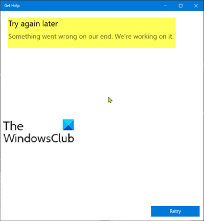 Windows 10 Get Help app not working