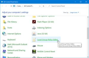 How to add Local Group Policy Editor to Control Panel