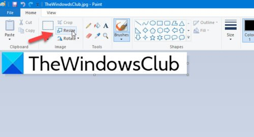 How to change file resolution in Paint