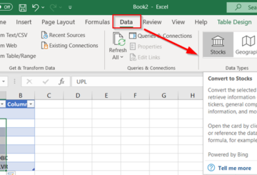 Fetch real-time Stock Prices in Excel