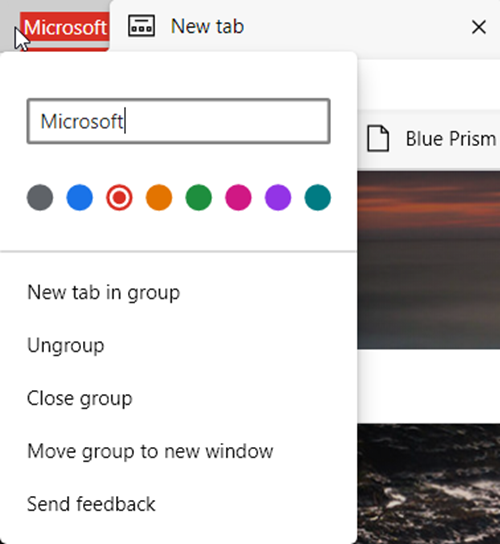 Enable Tab Groups in Microsoft Edge browser