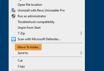 move files and folders