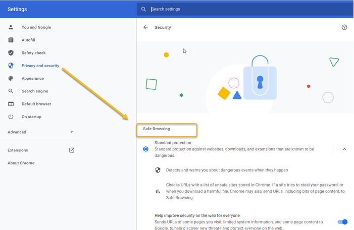 New Security & Privacy Settings in Chrome