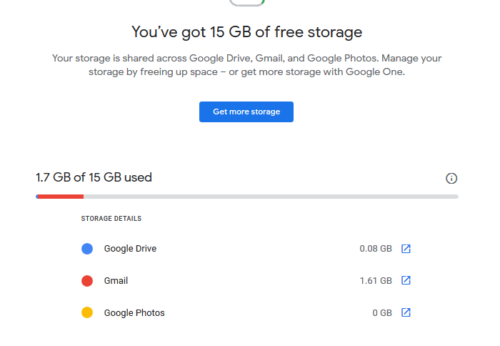 Check the storage status of Google Drive. Delete files if needed