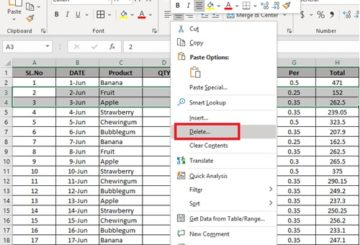 Delete Multiple Rows In Microsoft Excel