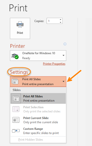 Print your PowerPoint Slides, Notes, and Handouts