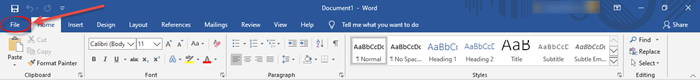 How to Search For Online Templates in MS Word in Windows 10