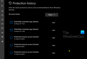 Delete Windows Defender Protection History