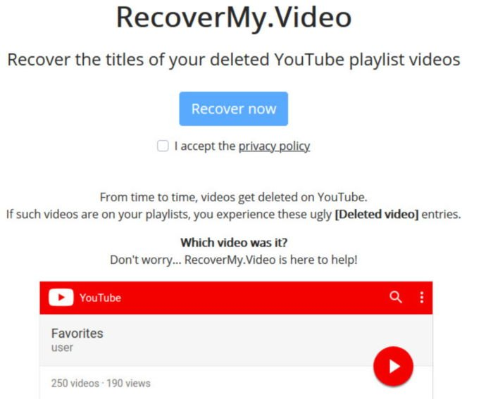 Find out deleted YouTube video titles