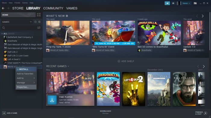 Verify the integrity of Steam game files