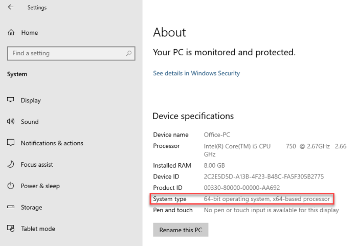 How to check if you can upgrade to 64 bit Windows 10 on the same PC