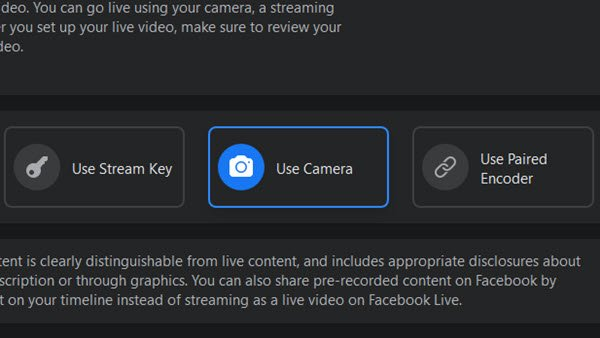 How to stream on Facebook Live