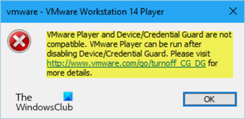 VMware Workstation and Device/Credential Guard not compatible