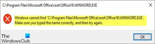 Windows cannot find C:\Program Files error when opening apps