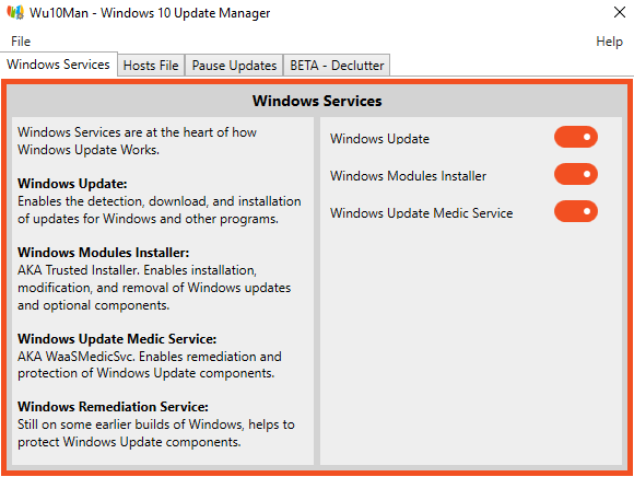Stop Automatic Windows 10 Updates with Wu10Man