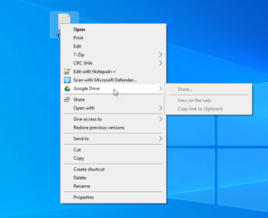 Remove or add Google Drive, Dropbox and OneDrive to Context Menu