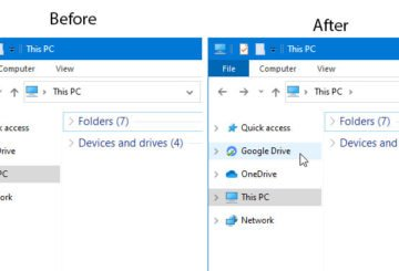 How to add or remove Google Drive from File Explorer Navigation Pane