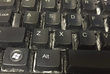 clean your keyboard and keep it free it from bacteria and viruses