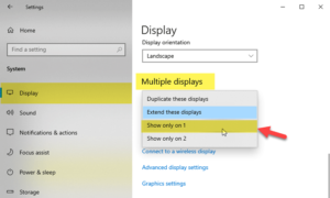 How to disable one monitor in dual monitor setup