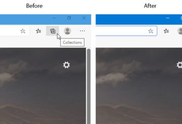 How to show or hide the Collections button in Microsoft Edge browser