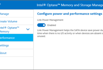 Intel Optane Memory and Storage Management