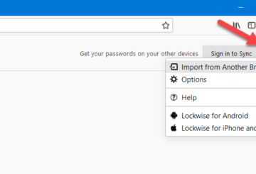 How to import passwords to Firefox from another browser