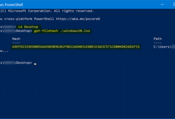 How to verify Windows 10 ISO file hash using PowerShell