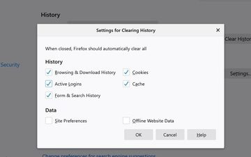 Automatically clear Firefox Cookies, Cache, History on exit