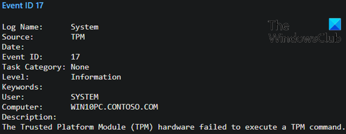 Event ID 14 and 17 - TPM command failure-2