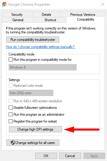 Blurry File Open dialog box in Google Chrome and Microsoft Edge