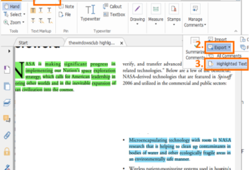 extract highlighted text from pdf