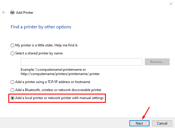 How to Add a Local Printer in Windows 10