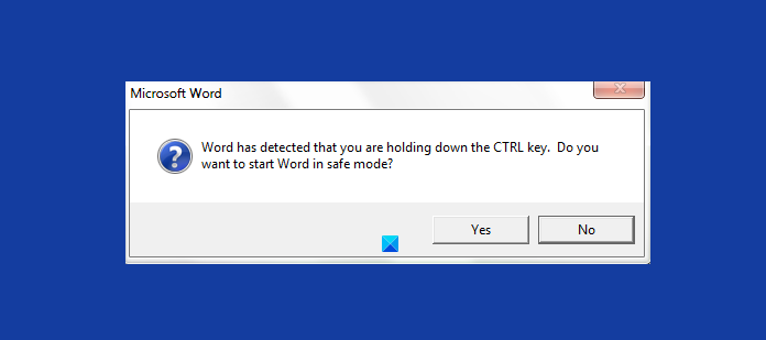 How to start Word, Excel, PowerPoint, Outlook in Safe Mode