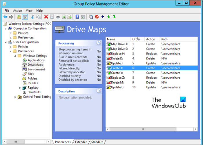 Map a Network Drive using Group Policy Preferences
