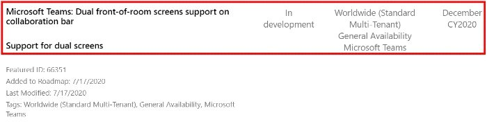 Microsoft Teams Dual screen support 1