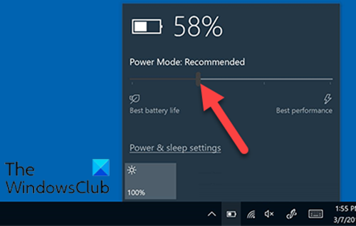 Battery Slider is missing or greyed out in Windows 10