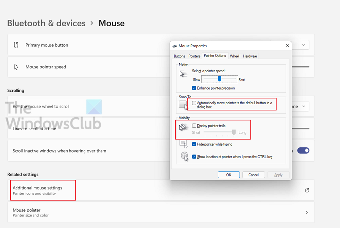 Mouse Pointers Properties Windows