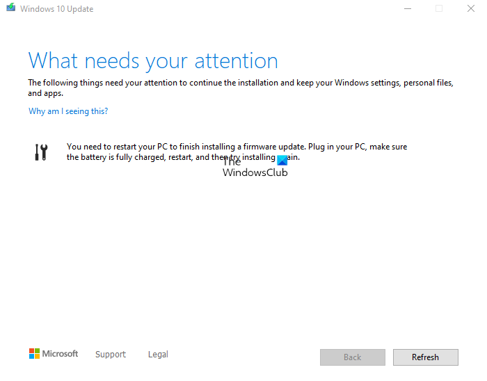 You need to restart your PC to finish installing a firmware update