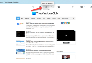 How to add or remove Favorites from Photos app in Windows 10