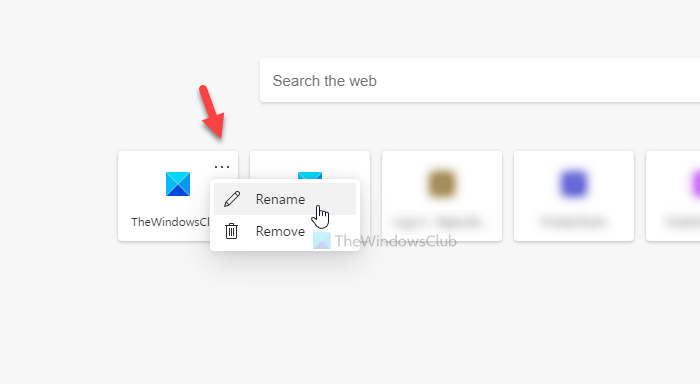 How to add, remove, manage quick links on new tab page in Edge