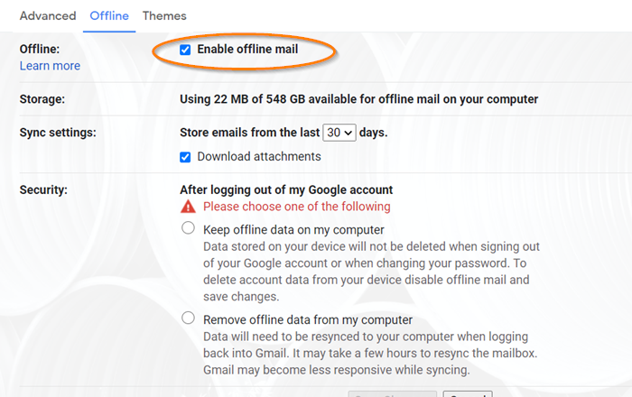 Email is stuck in the Outbox of Gmail