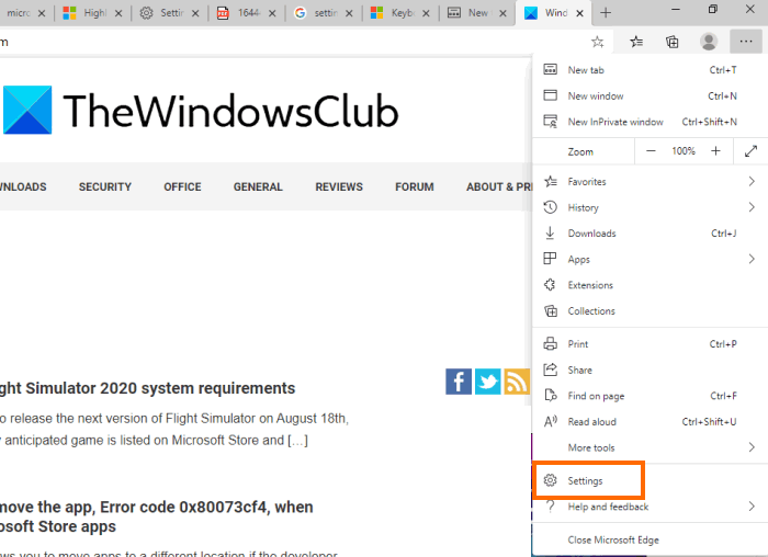 Text Highlighter not working in Microsoft Edge