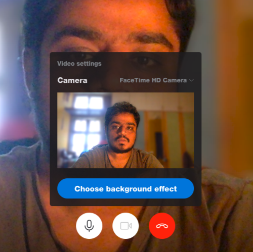 Change or Blur Background in Skype Video calls