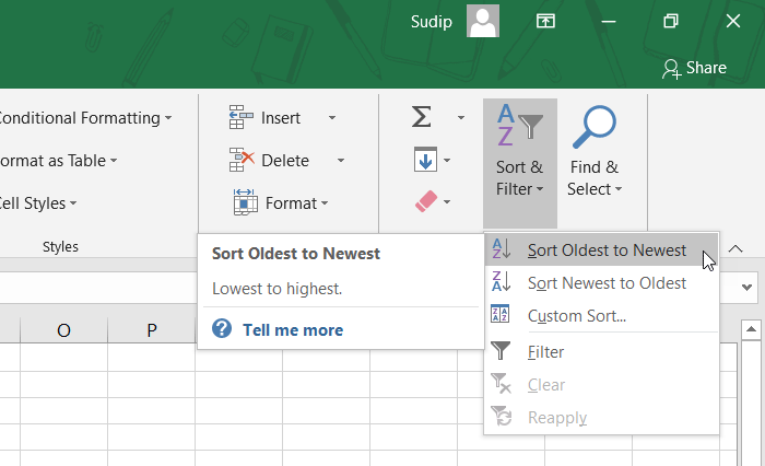 How to Sort Data by Date in Excel
