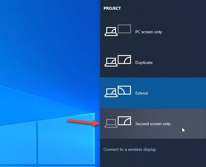 How to turn off laptop screen when using external monitor